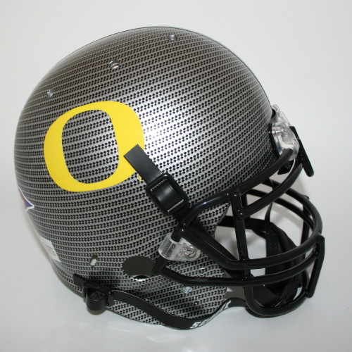 Oregon Ducks Throwback 2010 Carbon Fiber Authentic HelmetOregon Ducks Carbon Fiber Helmet