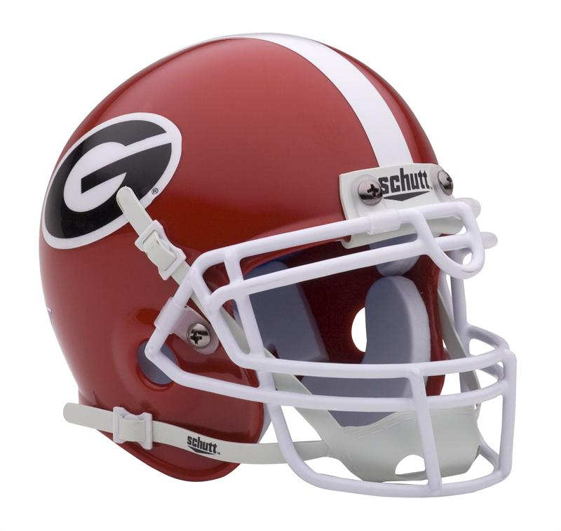 georgia bulldog helmets georgia bulldogs schutt mini authentic helmet 4188